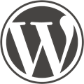 Wordpress Logo -  Quelle : http://wordpress.org/about/logos/