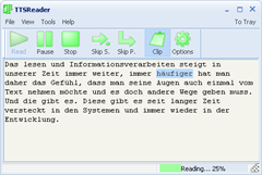 TTS Reader - Ein Beispiel für SAPI unter Windows