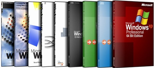 einige Cover - von Windows 95 bis Windows XP 64Bit