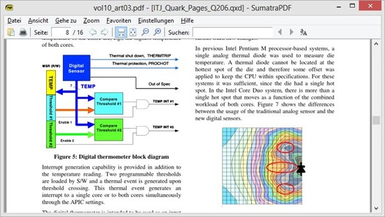 SumatraPDF bei der Anzeige einer Datei