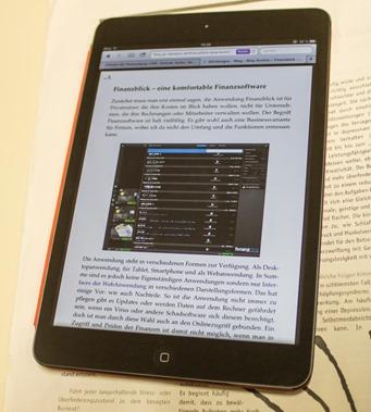 iPad Mini mit Readerdarstellung