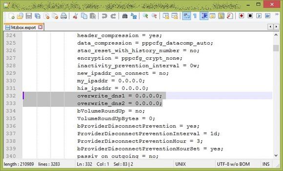 Screenshot - Bild von noch nicht angepasster Konfiguration