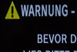 Warnung über HDMI