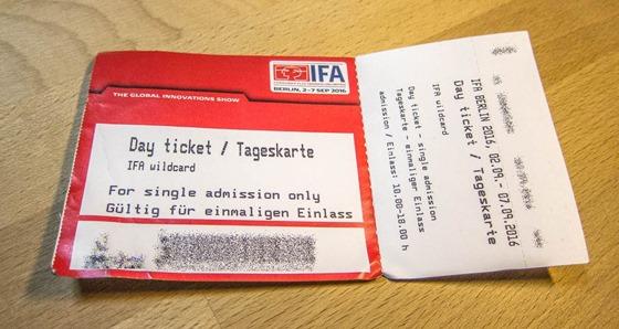 IFA Eintrittskarte